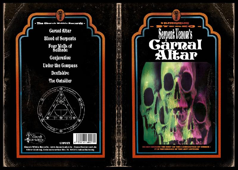 Serpent Venom - Carnal Altar  CD-Book
