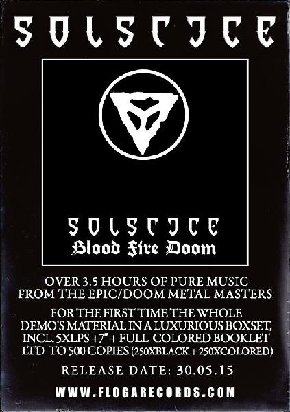 Solstice - Blood Fire Doom LP Box ( black)