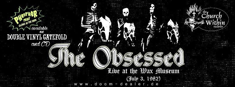 The Obsessed - Live at the Wax Museum CD (Digipack DVD Case) 21th September