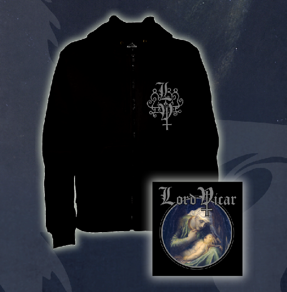 Lord Vicar - The Black Powder Zip Hoddie Size S