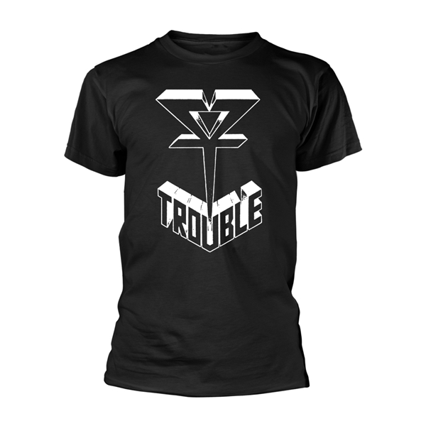 Trouble - Logo Shirt ( Black) Size S