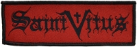 Saint Vitus Bandname black on red Patch